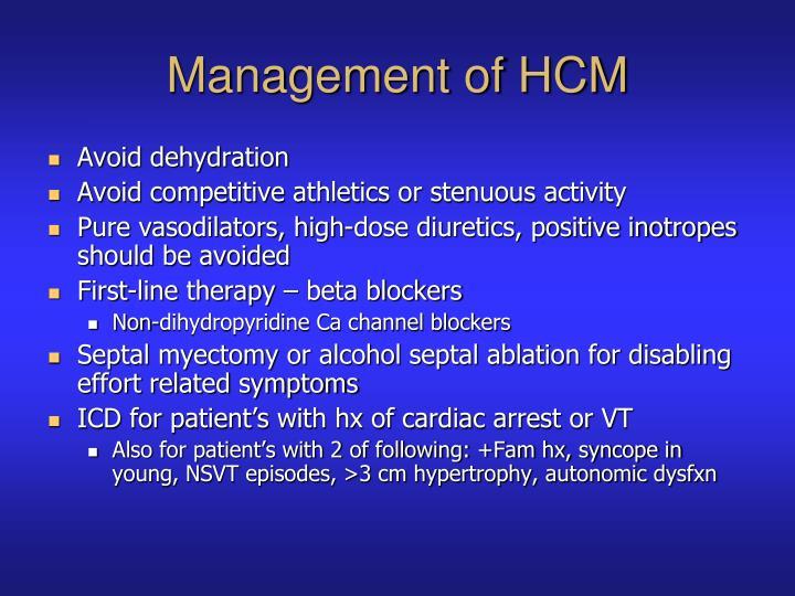 Management of HCM