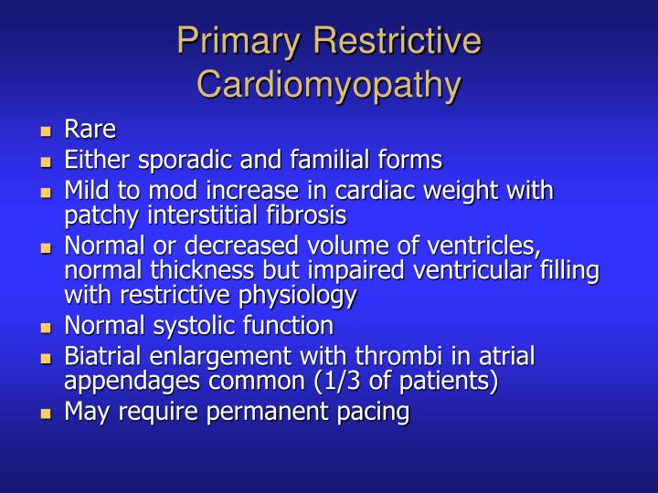 Primary Restrictive Cardiomyopathy