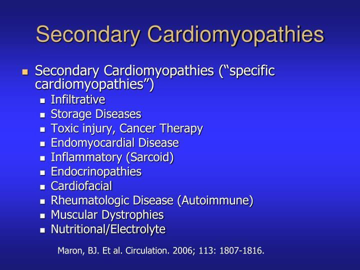 Secondary Cardiomyopathies