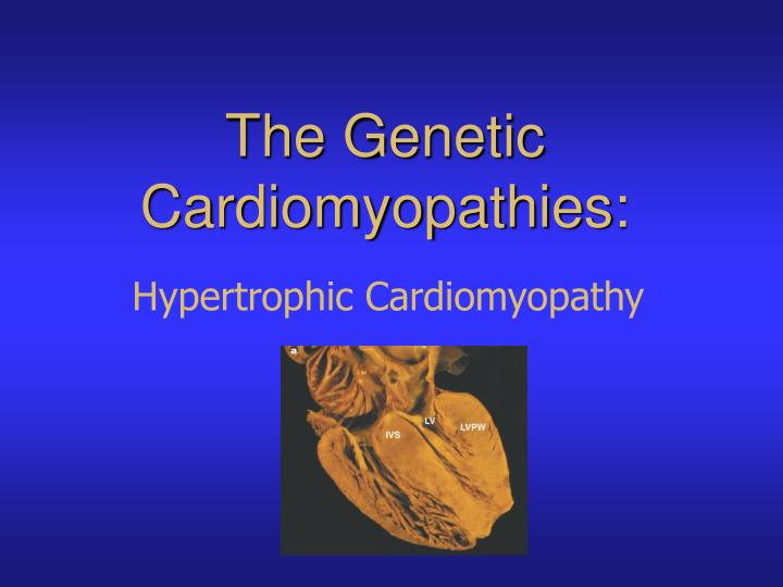 The Genetic Cardiomyopathies: