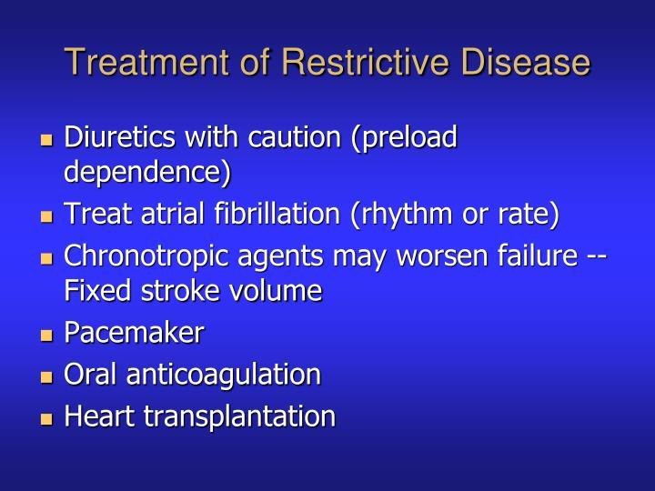 Treatment of Restrictive Disease
