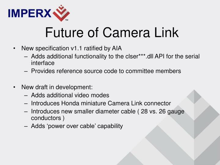 Future of Camera Link