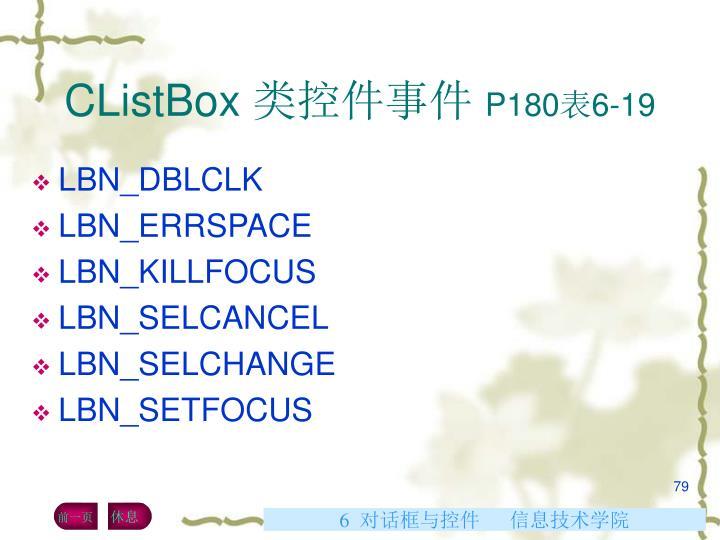 CListBox