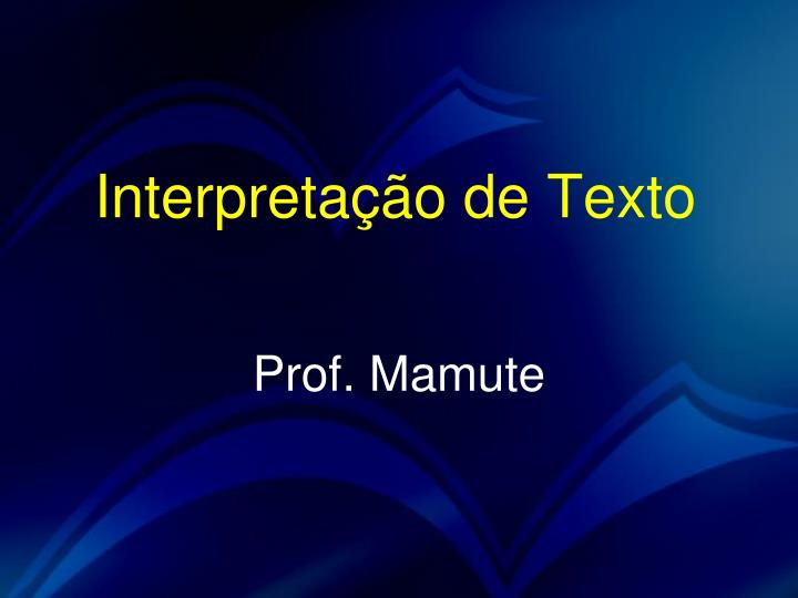 interpreta o de texto