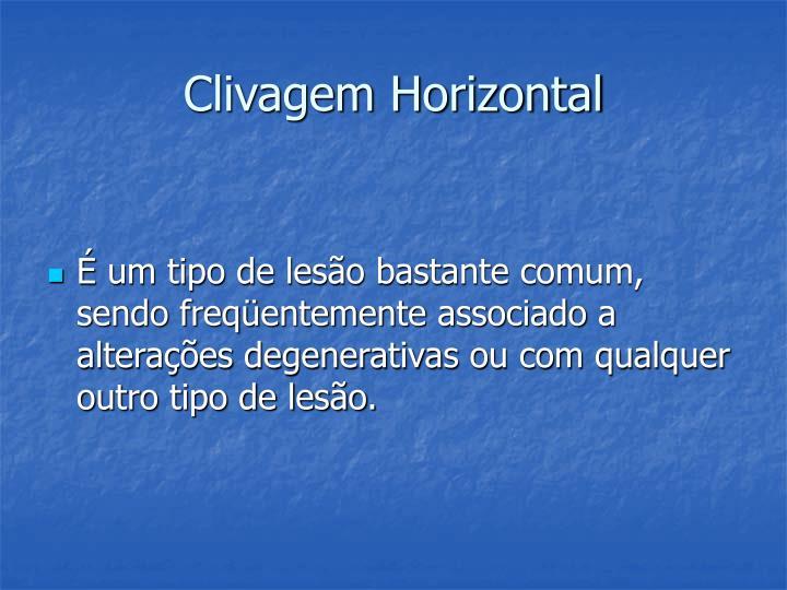Clivagem Horizontal
