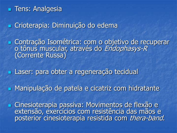 Tens: Analgesia