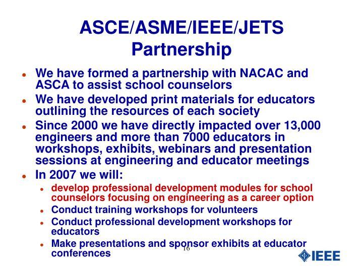 ASCE/ASME/IEEE/JETS Partnership