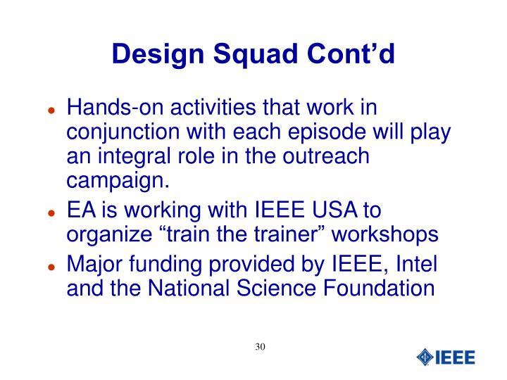 Design Squad Cont'd