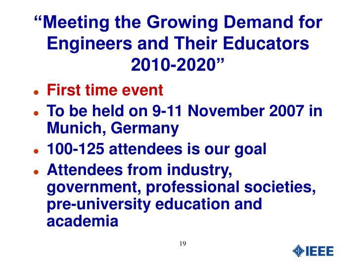 """""""Meeting the Growing Demand for Engineers and Their Educators 2010-2020"""""""
