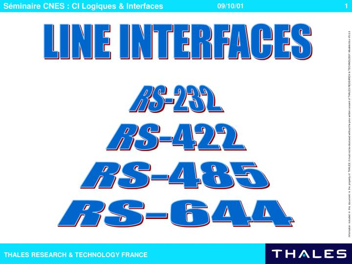 LINE INTERFACES