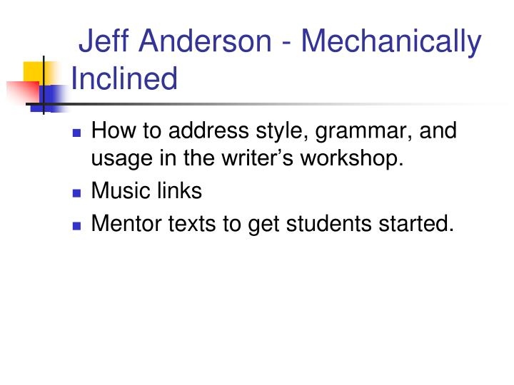 Jeff Anderson - Mechanically Inclined