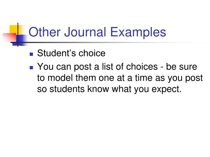 Other Journal Examples
