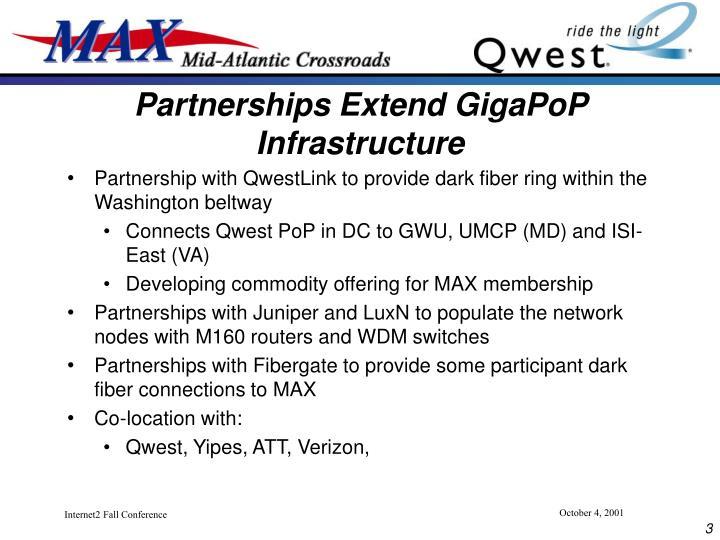 Partnerships Extend GigaPoP Infrastructure