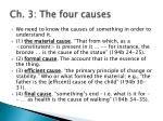 ch 3 the four causes