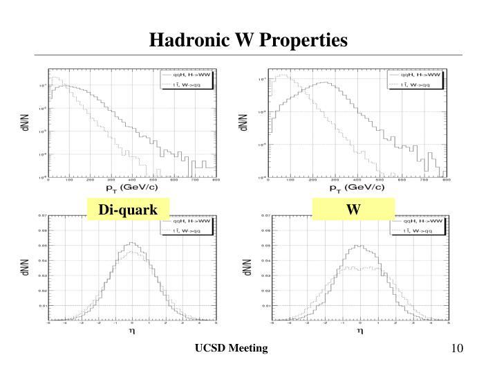 Hadronic W Properties