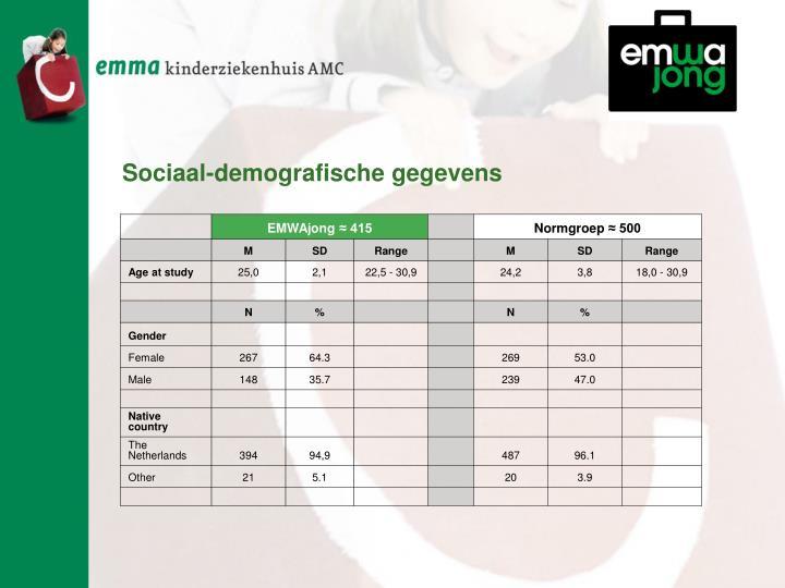 Sociaal-demografische gegevens