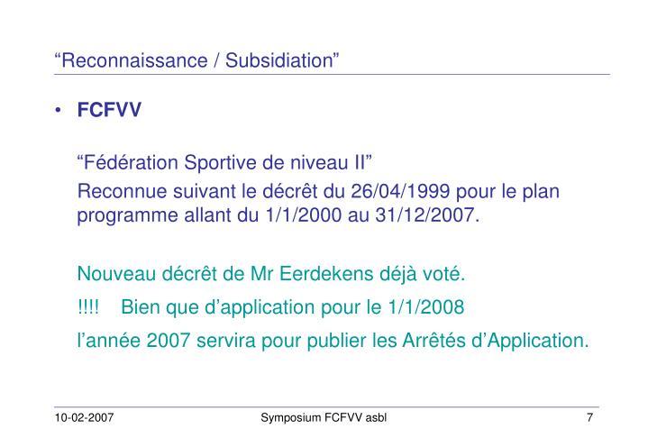 """""""Reconnaissance / Subsidiation"""