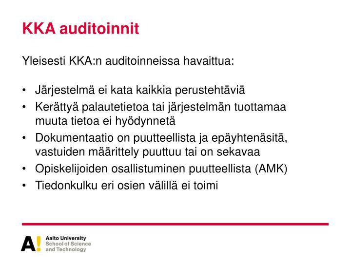 KKA auditoinnit