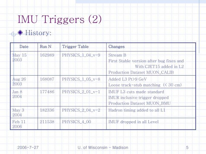 IMU Triggers (2)