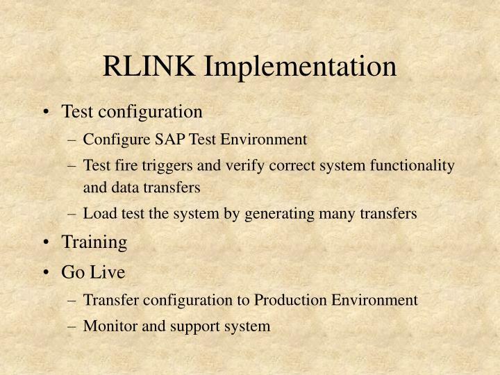 RLINK Implementation