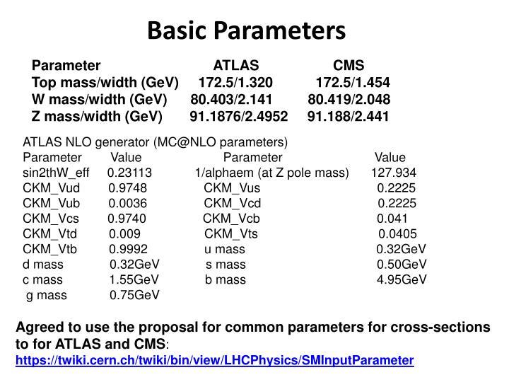 Basic Parameters