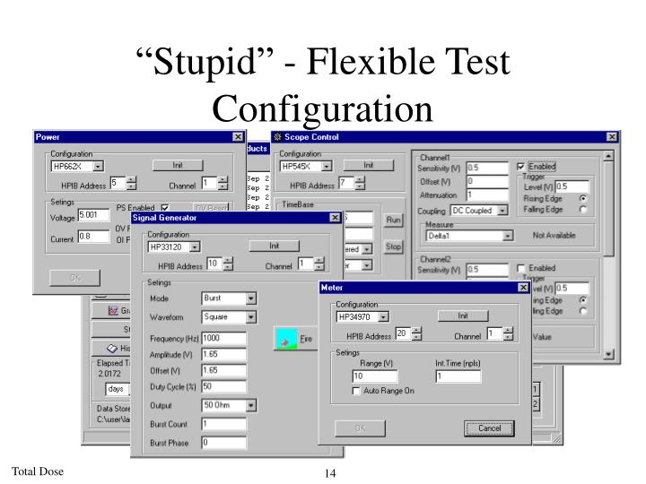 """Stupid"" - Flexible Test Configuration"