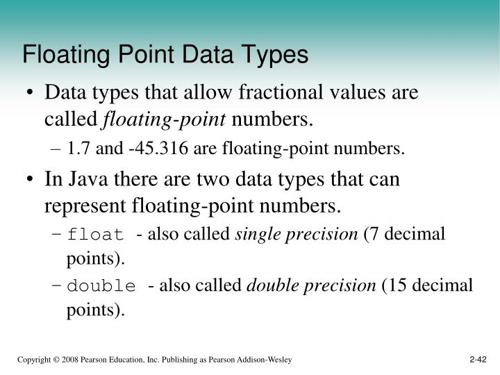 Floating Point Data Types