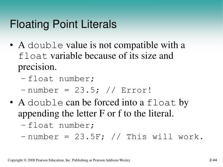 Floating Point Literals