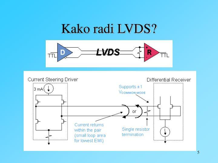Kako radi LVDS?