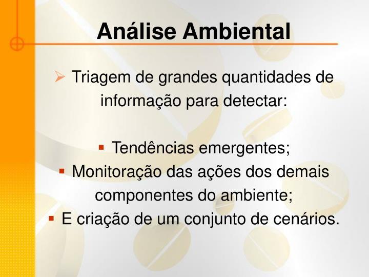 Análise Ambiental