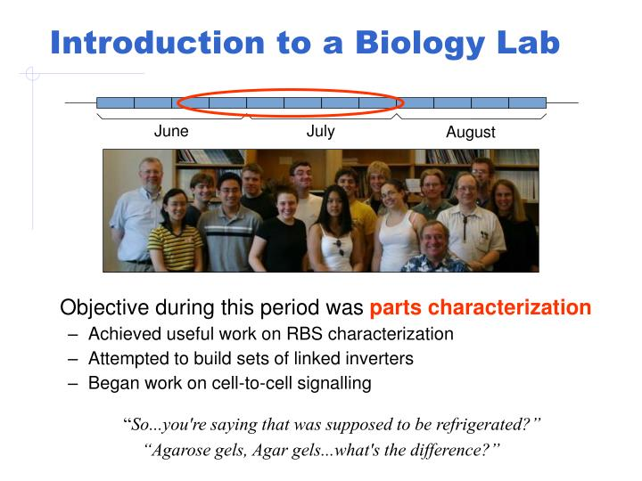 Introduction to a Biology Lab
