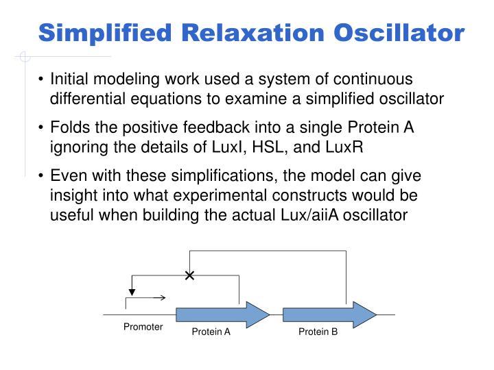 Simplified Relaxation Oscillator