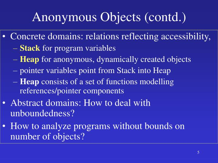 Anonymous Objects (contd.)
