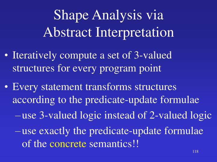 Shape Analysis via