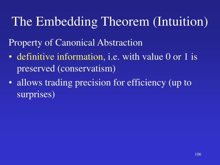 The Embedding Theorem (Intuition)