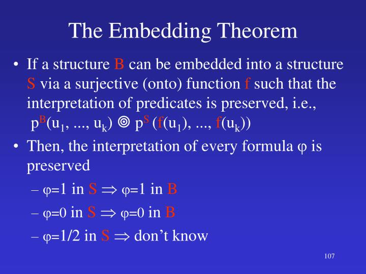 The Embedding Theorem