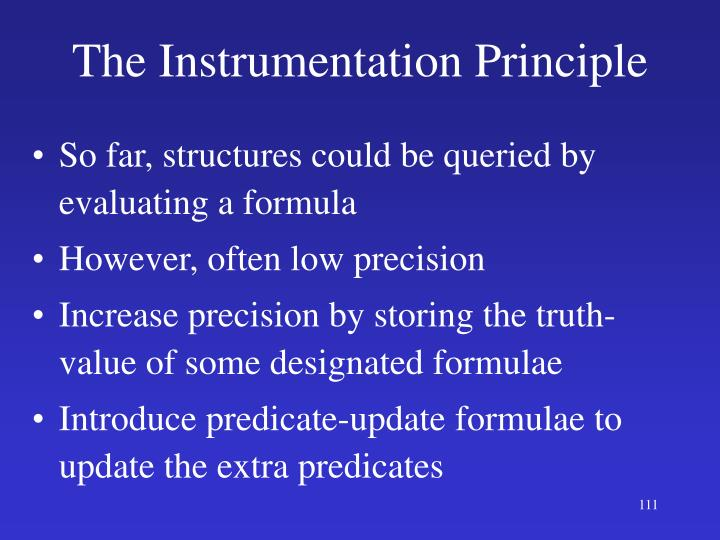 The Instrumentation Principle