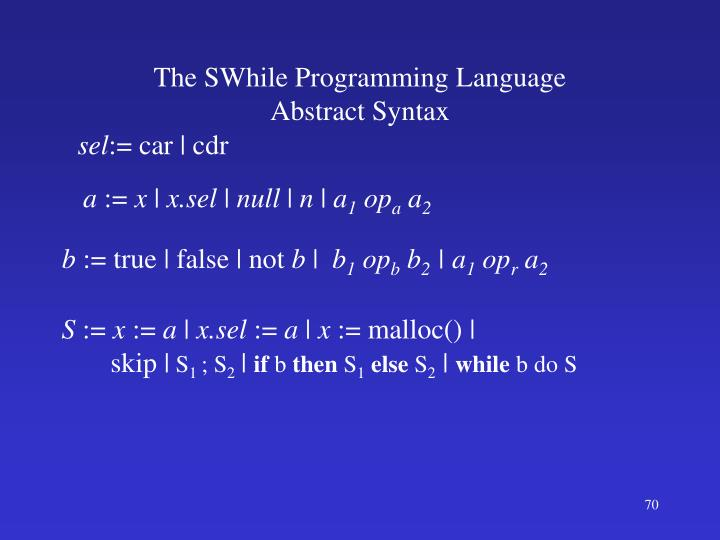 The SWhile Programming Language