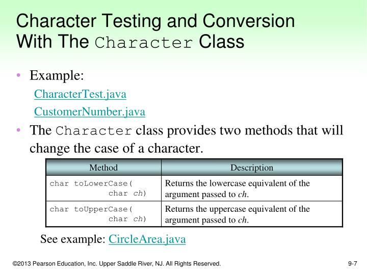 Character Testing and Conversion With The