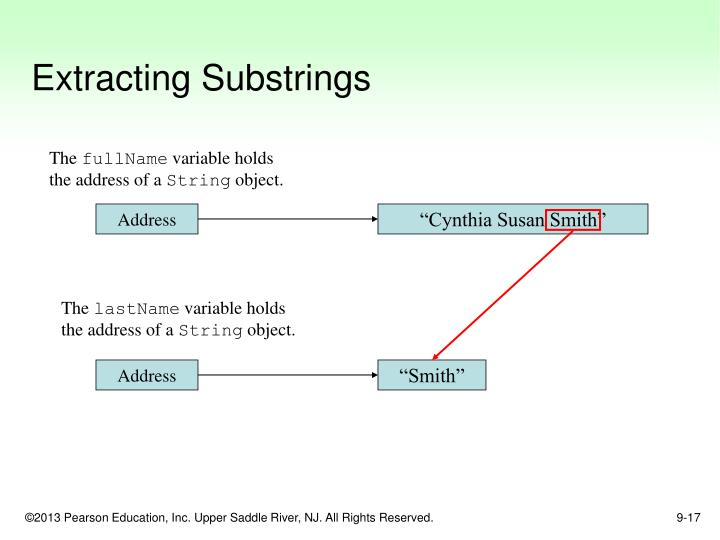 Extracting Substrings