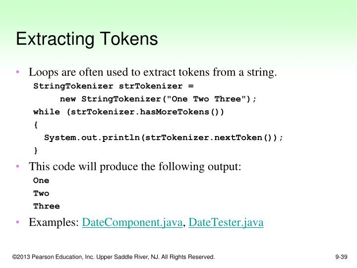 Extracting Tokens