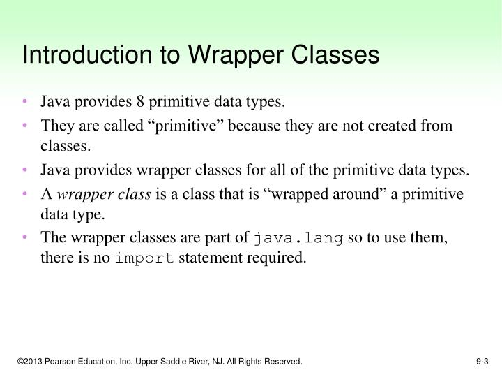 Introduction to wrapper classes