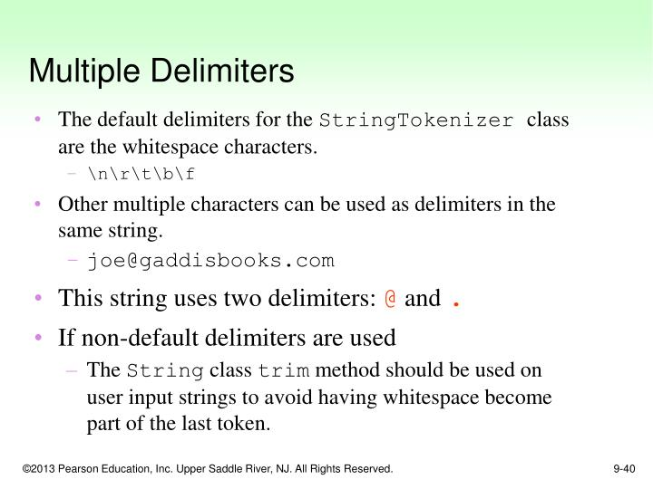 Multiple Delimiters