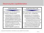 steuerung des liquidit tsrisikos
