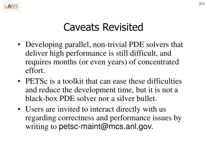 Caveats Revisited