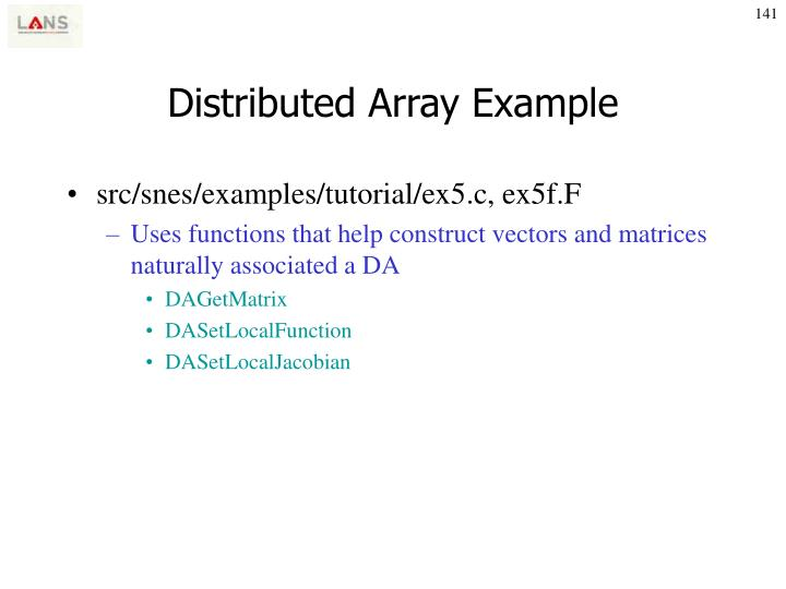 Distributed Array Example