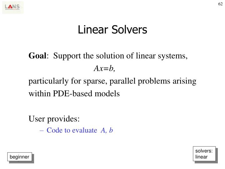Linear Solvers