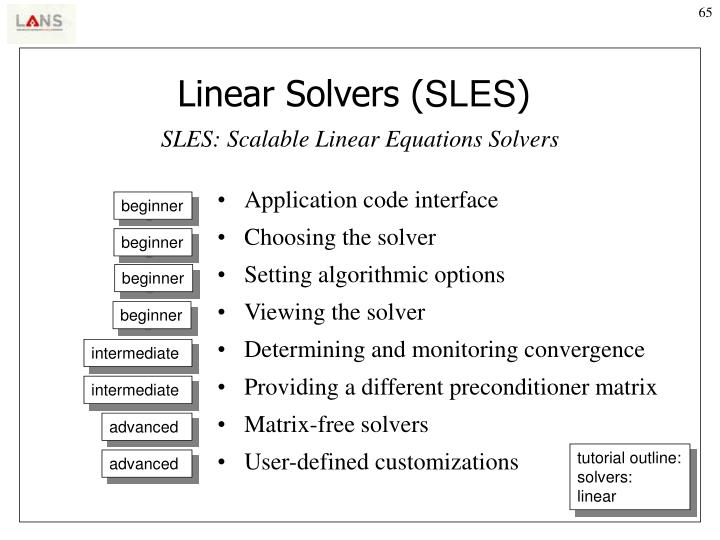 Linear Solvers (