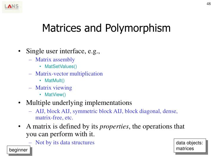 Matrices and Polymorphism