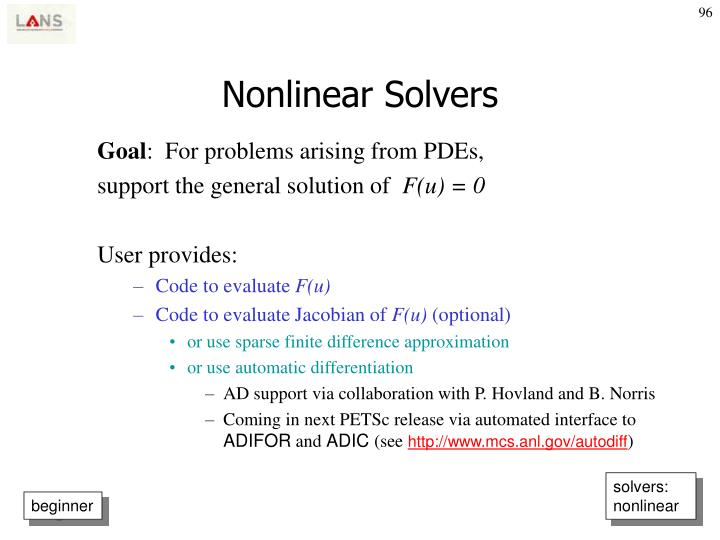 Nonlinear Solvers